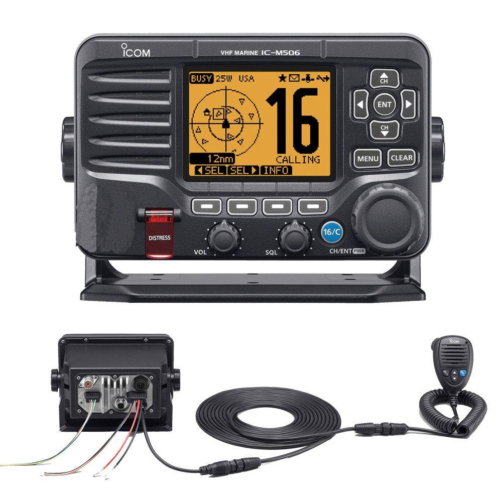 Icom M506 VHF Fixed Mount w/Rear Mic & NMEA 0183/2000® - Black