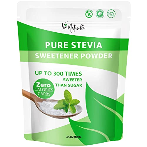 Pure Stevia Powder Extract Sweetener – Zero Calorie Sugar Free Substitute Alternatives – No Artificial Ingredients 2,250 Servings