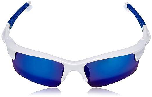 Ocean Sunglasses Giro - lunettes de soleil polarisées - Monture : Blanc/Bleu - Verres : Revo Bleu (3901.1) GQ5ZR7RL