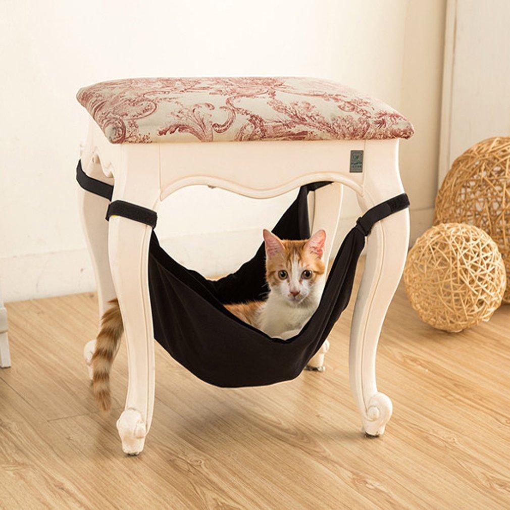 S warm und bequem Welpen oder kleine Haustiere Canvas Frettchen weich Yinew Katzen-H/ängematte Beige Gray mit Stuhl f/ür K/ätzchen