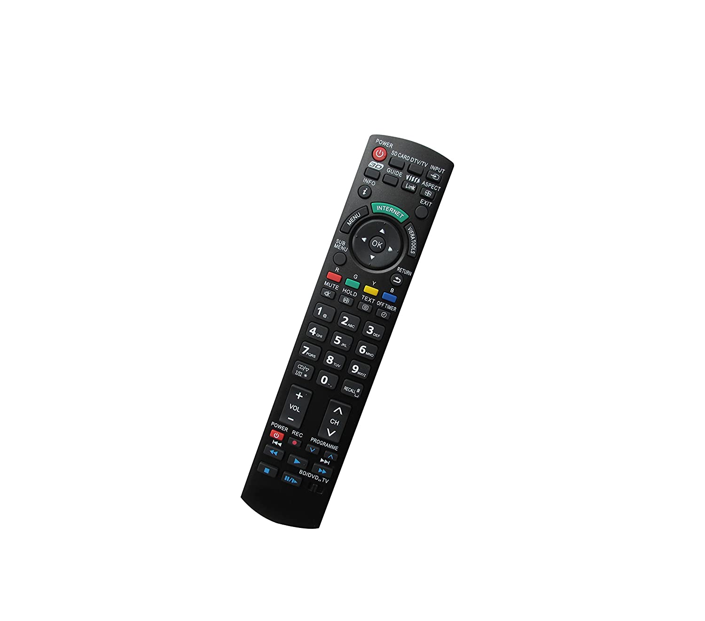 汎用交換用リモコン パナソニック TC-26LX50 TC-26LX60C TC-32LX50 TH-42PD60U TH-42PD60 プラズマ 3D ヴィエラ LCD LED HDTV TV用   B01HRH2P2O