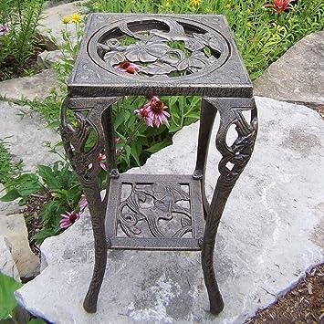 Amazoncom Oakland Living Hummingbird Table Plant Stand Antique