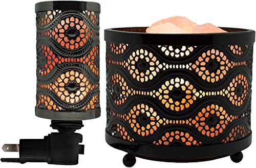 Himalayan Glow 1363B 1808 Basket Night Natural Salt lamp