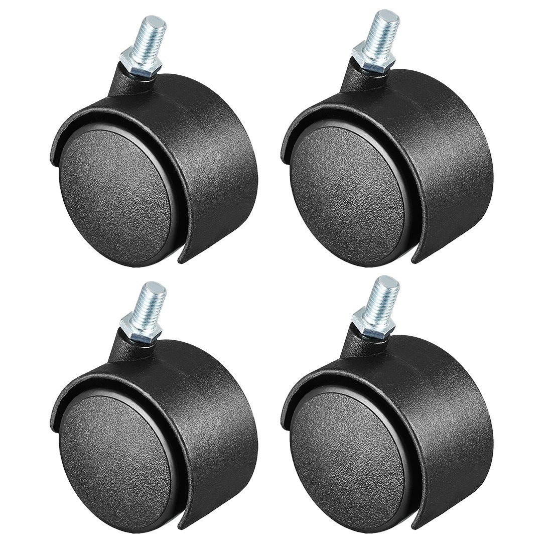 sourcing map 4 Pcs 2 Inch Swivel Caster Wheels Nylon 360 Degree Threaded Stem Caster Wheel, M8 x 13mm, 39lb Capacity a18042600ux0211