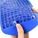 Generic Cake Mould Ice Cubes Frozen Cube Bar Pudding Silicone Tray Mold Tool Blue