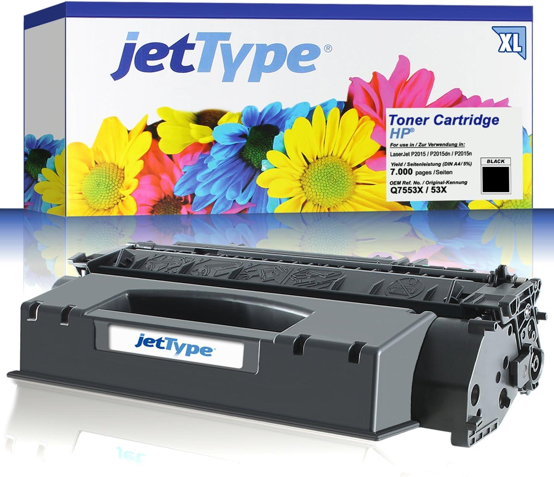 Jettype Toner Ersetzt Hp Q7553x 53x Für Hp Laserjet P2015 P2015dn P2015n P2014 Schwarz 7 000 Seiten Bürobedarf Schreibwaren