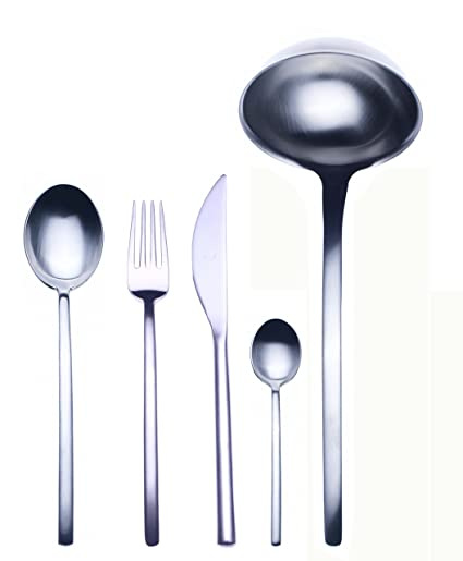 Mepra 49-Piece Due Ice Flatware Set