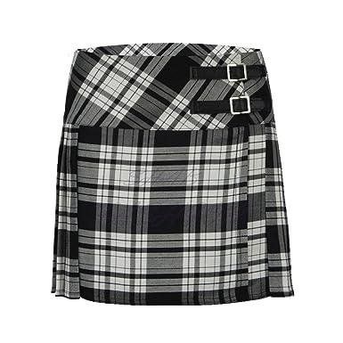 Falda escocesa plisada para niño, con tela de cuadros escoceses ...