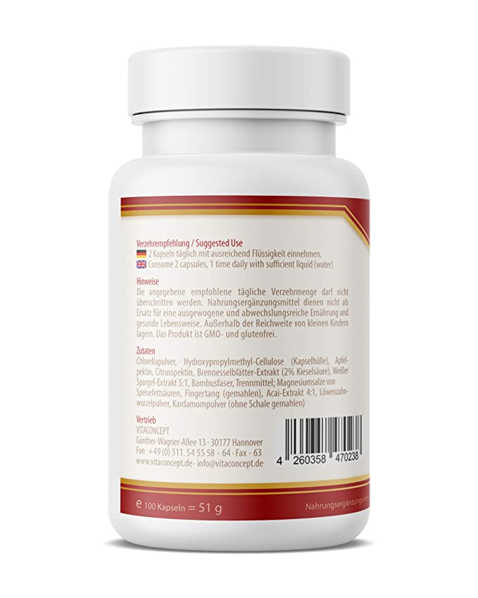 VITACONCEPT DETOX 10 PLUS - 100 cápsulas para limpieza ...