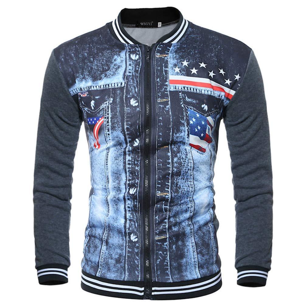 Btruely Mäntel Herren Verdickender Jacke Männer Freizeitjacke Herbst Laufjacke Winter Pullover Sportswear Mode Pullover