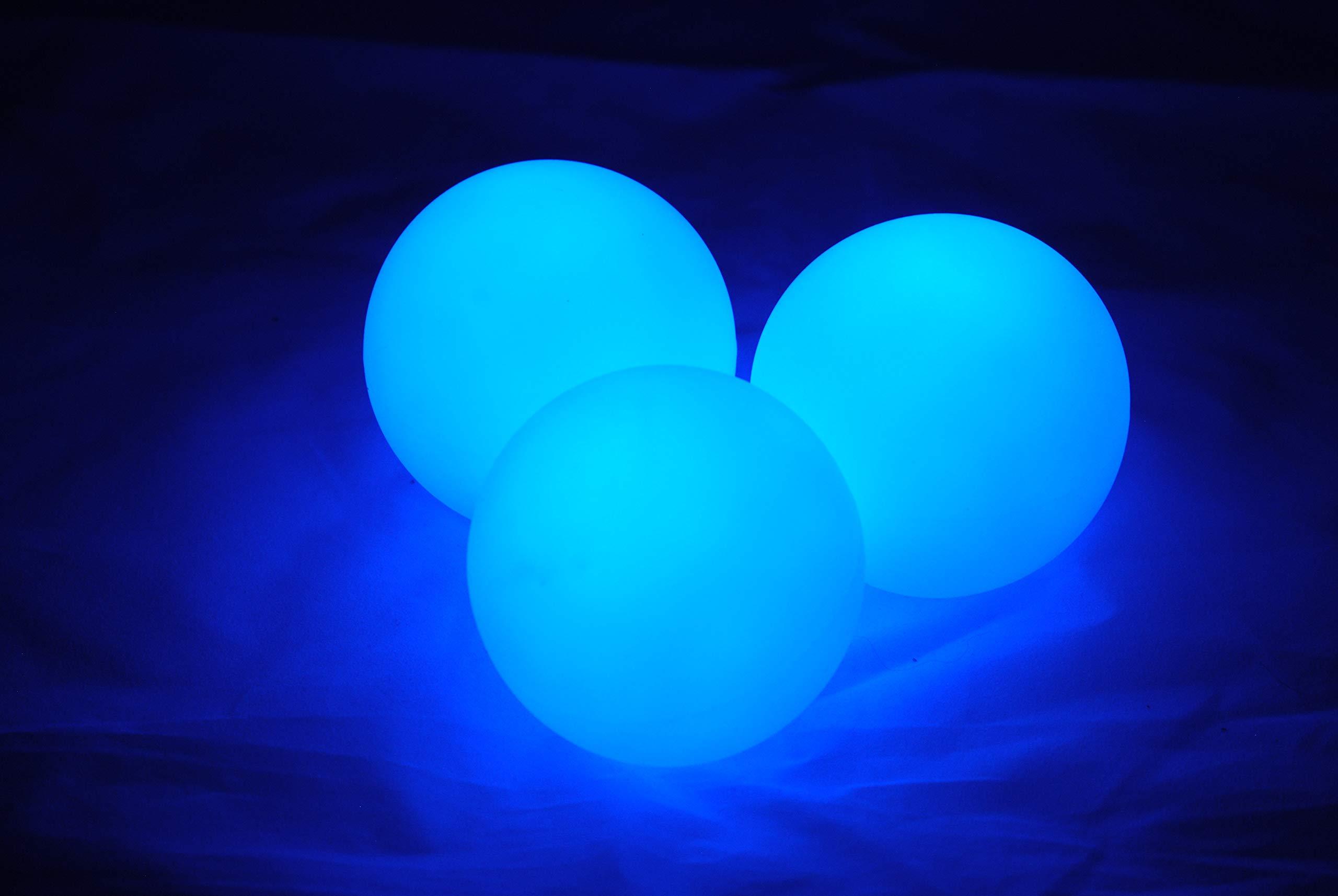 Higgins Brothers Luster LED Light-Up Juggling Balls (Blue)