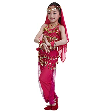 c30cb6d0927f Amazon.com: Astage Kids Princess Girl Indian Belly Dance Costume Cosplay  Bollywood Ornaments: Clothing