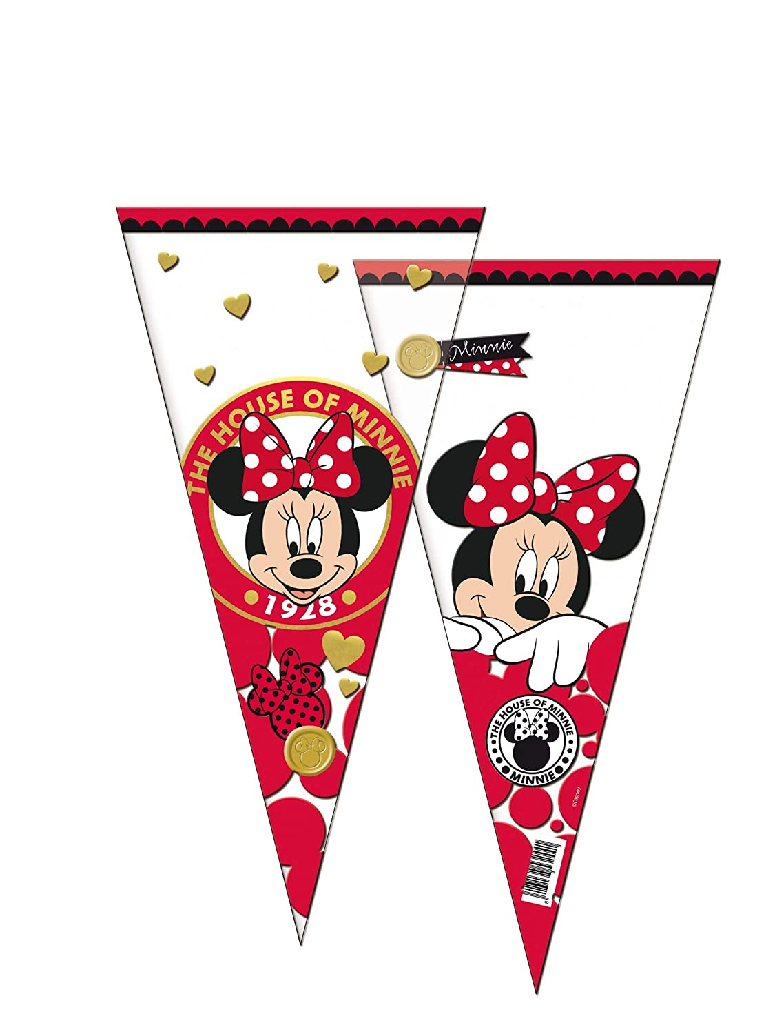 PEQUEFIESTA 00470; Pack 12 Conos Disney Minnie Mouse; Ideal ...