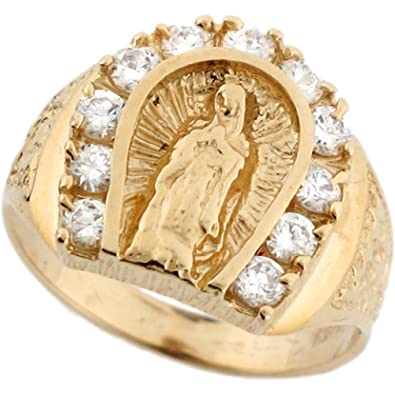 Amazon 14k Real Solid Gold Virgin Mary Lady Guadalupe