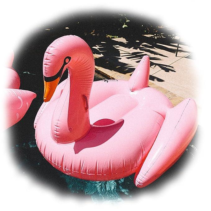 Floatie Kings: Cisne Hinchable Rosa Gigante Piscina (Inflable, Colchoneta): Amazon.es: Juguetes y juegos