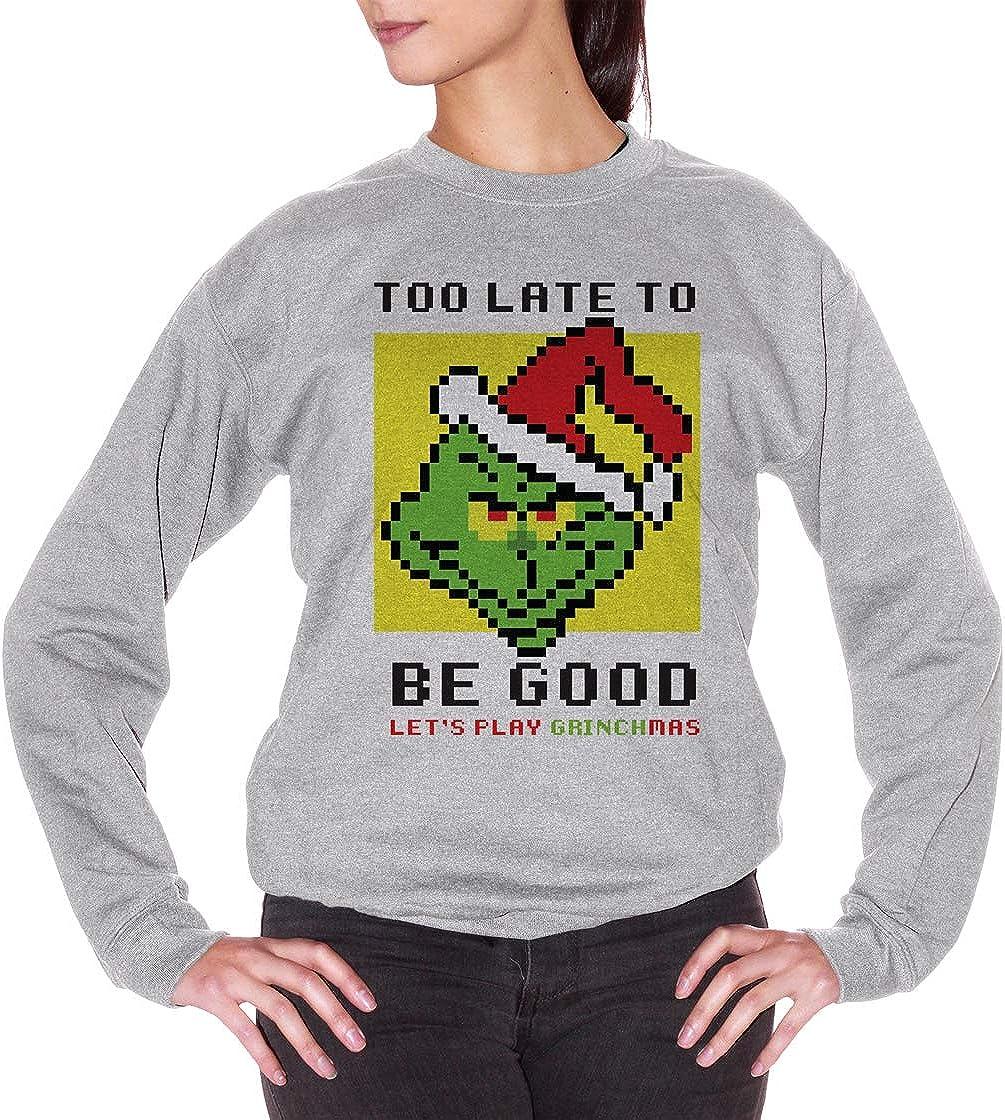 LOOVEE Felpa Grinch Unisex Felpe di Natale 3D Divertente Il Grinch Felpe con Cappuccio Pullover Magliette Autunno Inverno Moda Casuale a Manica Lunga Girocollo Maglione per Uomo Donna Coppia