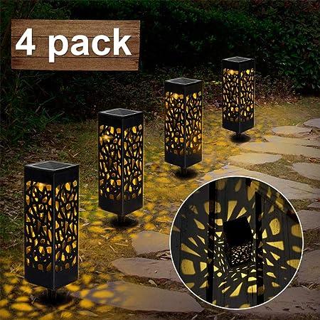 HYD Luces De Jardín Led Solares,Lámpara Solar Luz Ambient,Luces Solares Luz De Entrada De Seguridad Led Automática para Patio De Césped, Patio, PasarelaAhorro de energía: Amazon.es: Hogar