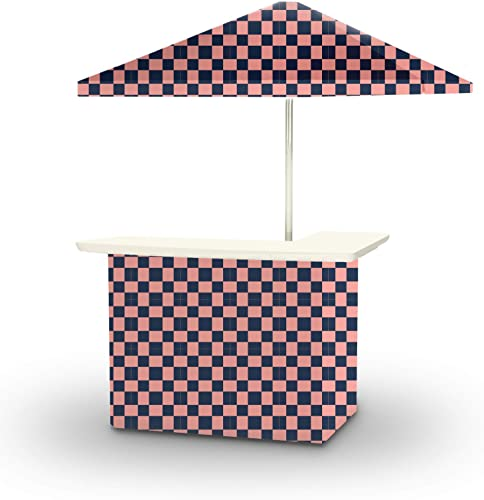 Best of Times 2001W2100-NP Check ME Out Portable Bar and 8 ft Tall Square Umbrella