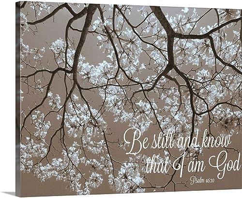 Be Still Canvas Wall Art Print