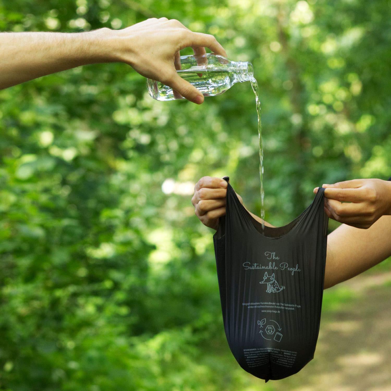 TSP bio de hundekot Bolsa Premium – con asas – OK Compost Home certificada – 100% compostable biodegradable y doméstica (sin Oxo.) – Grande, extra ...