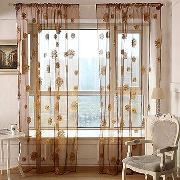 Stern Gaze Vorhang Gardine Transparent Voile Hause Schlafzimmer Dekor Vorhänge