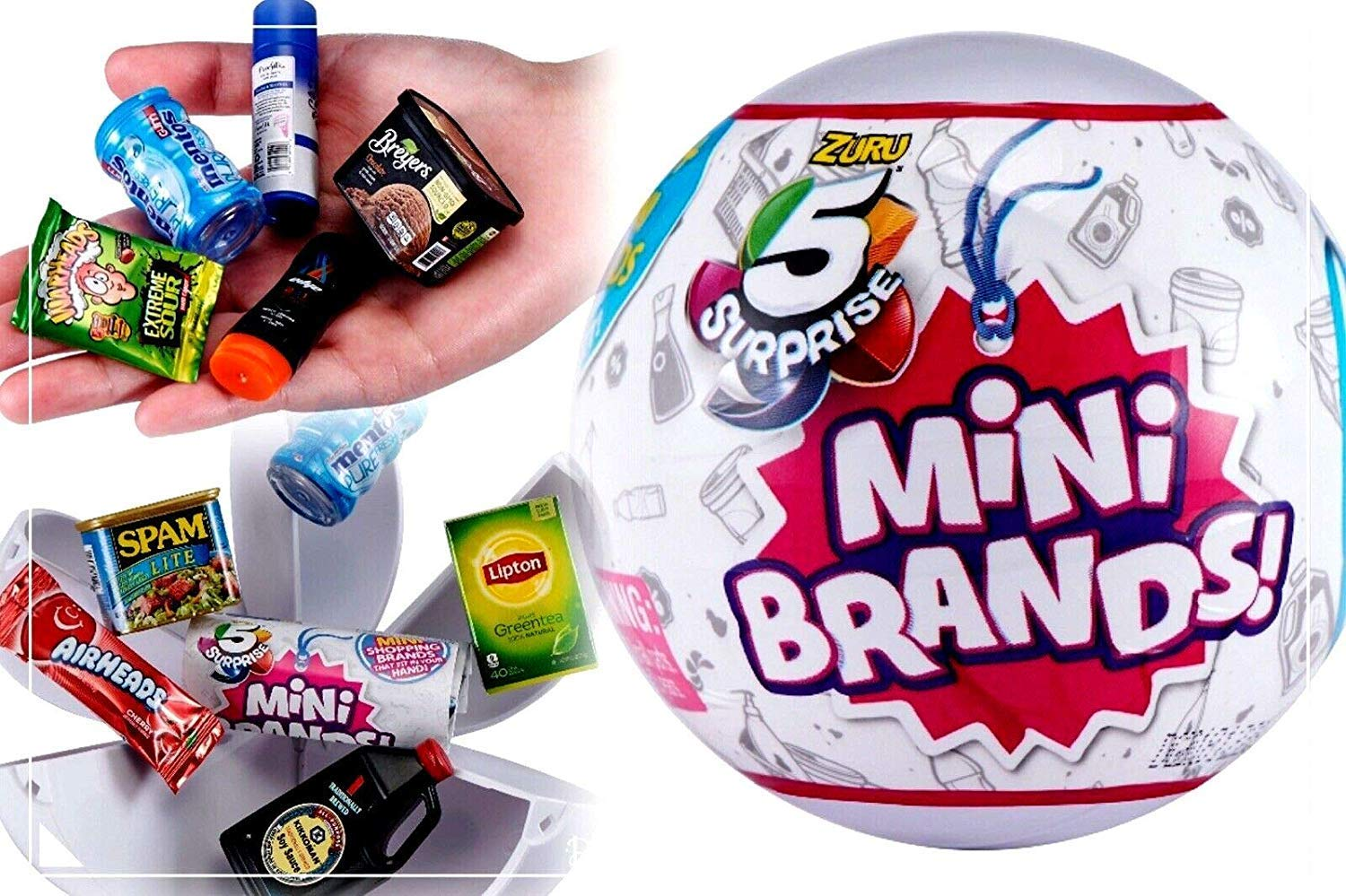 5-Surprise Mini Brands Collectible Capsule Ball by Zuru - 3 Ball Bundle
