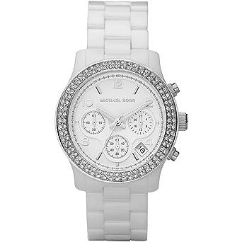 202e633b0b72 Amazon.com  Women s White Ceramic Link Bracelet Quartz Chronograph ...