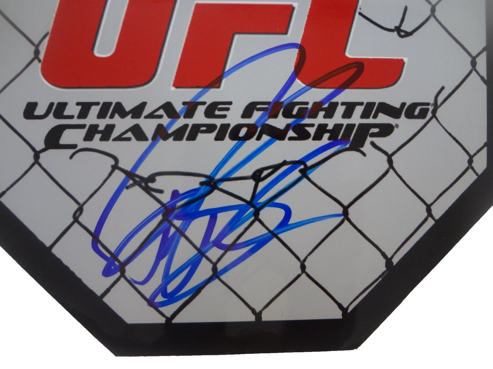 "Ryan ""Darth"" Bader Autographed UFC 8x8 UFC Octagon W/PROOF, Picture of Ryan Signing For Us, UFC, Ultimate Fighting Championship, Arizona State Sun Devils, Wrestling"