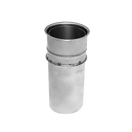Favorit Kamino Flam Wandfutter doppelt in Silber, Doppelwandfutter aus CN07