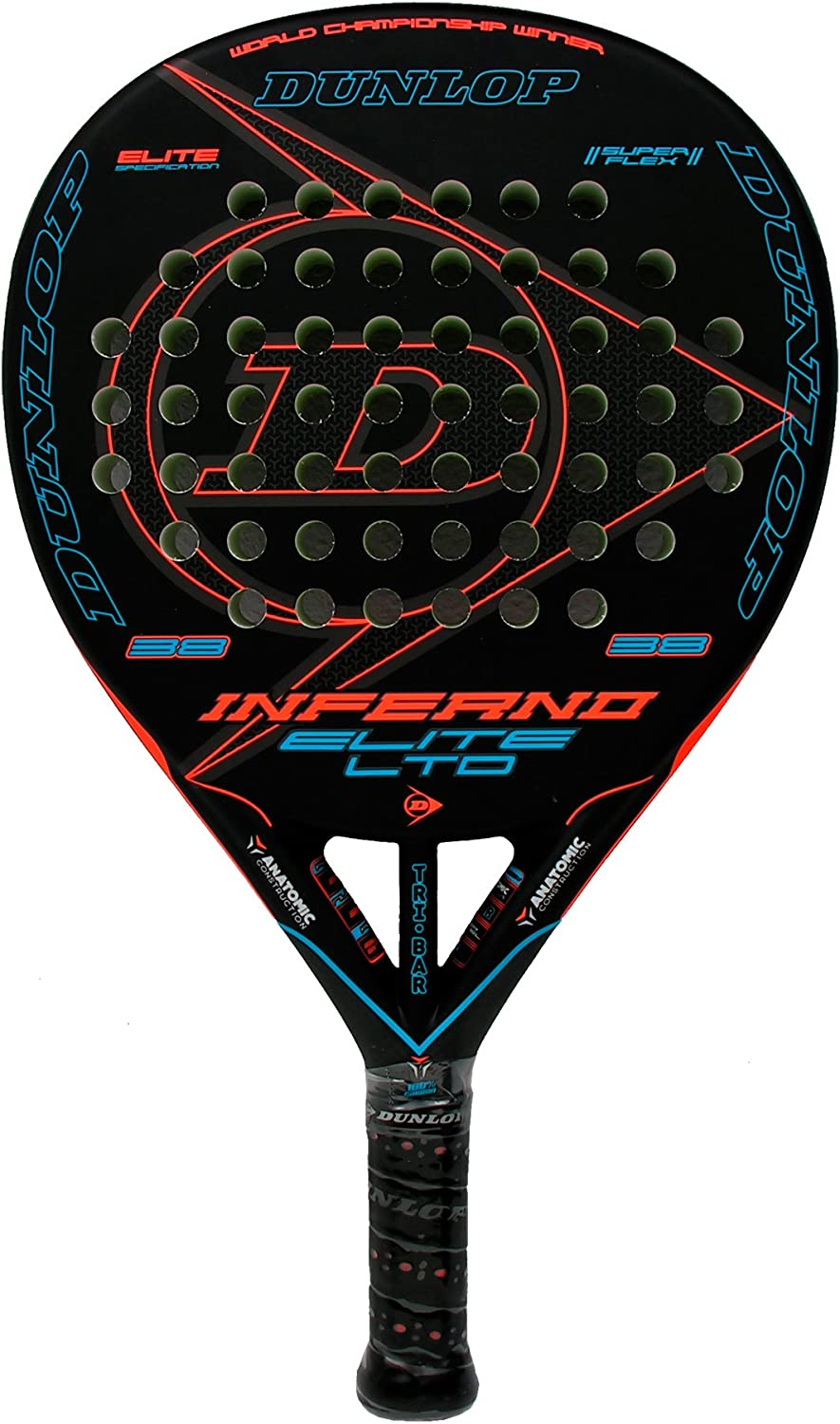 Dunlop Pala de pádel Inferno Elite LTD Blue: Amazon.es: Deportes y ...