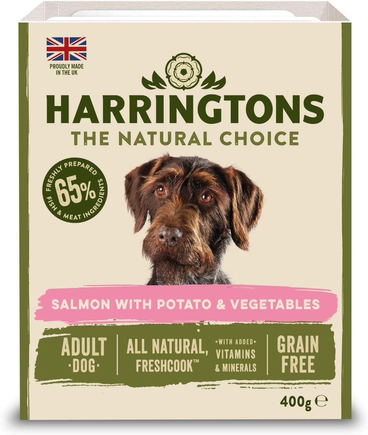 Harringtons Wet Salmon And Potato Dog Food 8 X 400 G