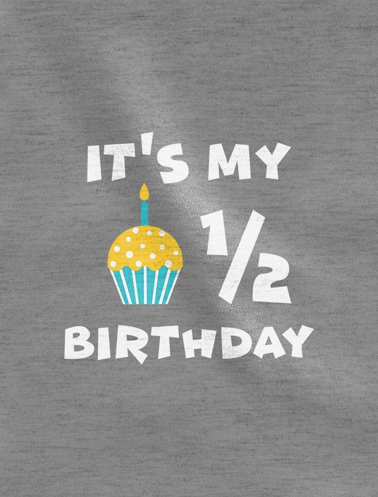 Tstars It's My Half Birthday Gift for Baby 1/2 Birthday Baby Long Sleeve Bodysuit