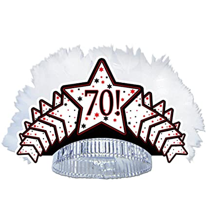 """/""""HAPPY 70TH BIRTHDAY/"""" 18/"""" ROUND FOIL BALLOON BRIGHT /& BOLD PARTY DECORATION"""