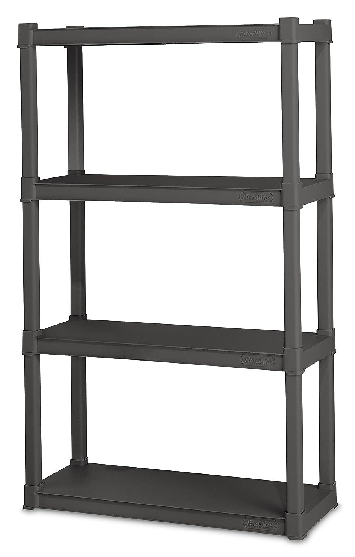 Amazon.com: STERILITE 01643V01 4 Shelf Unit, Flat Gray Shelves ...