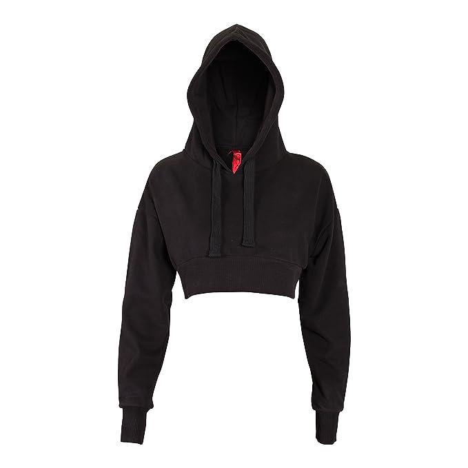 9eb266558aff2 Amazon.com  Friday Chic Women s Fashion Crop Hoodie Sweatshirt  Clothing