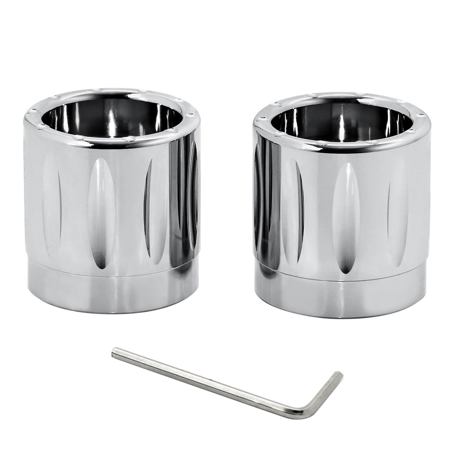 Senkauto Front Axle Cap Nut Cover For Harley Sportster Touring Dyna Touring Softail Electra Street Glide (Chrome 03)