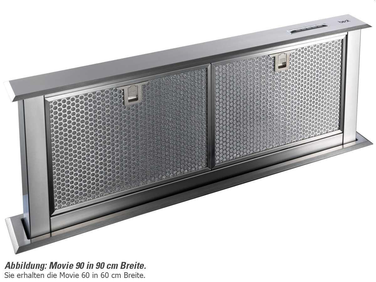 Best Movie Tischhaube Dunstabzugshaube Edelstahl Tischlüfter 60cm Downdraft Esse [Energieklasse C]