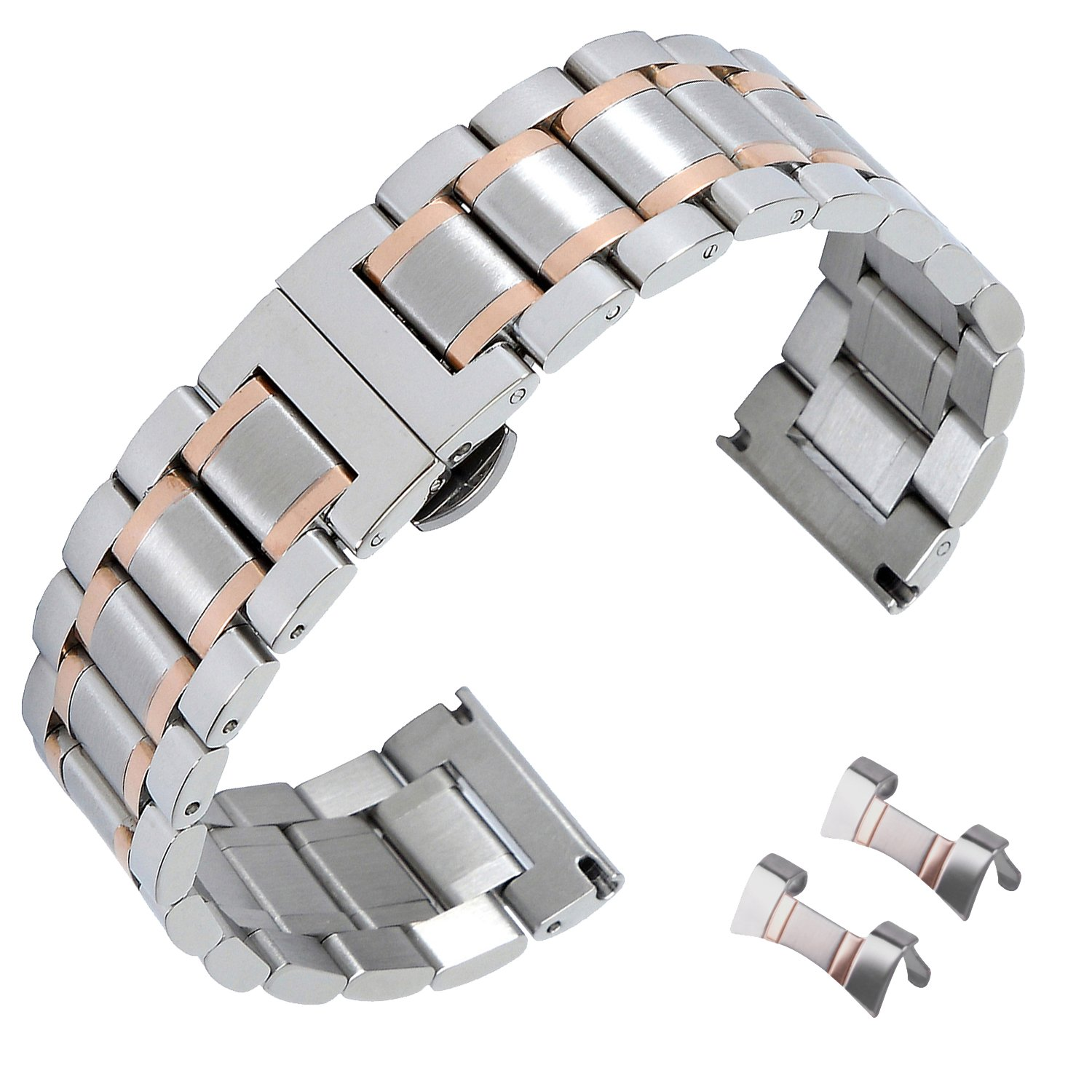 18mm Stainless Steel Watch Bands Replacement Strap Clasp Strap Bands Strap Watchband Strap Wristband