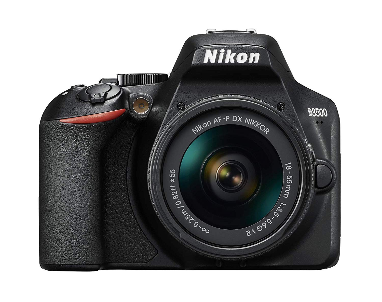 Nikon D3500 W/AF-P DX NIKKOR 18-55mm f/3.5-5.6G VR Black (Renewed) by Nikon