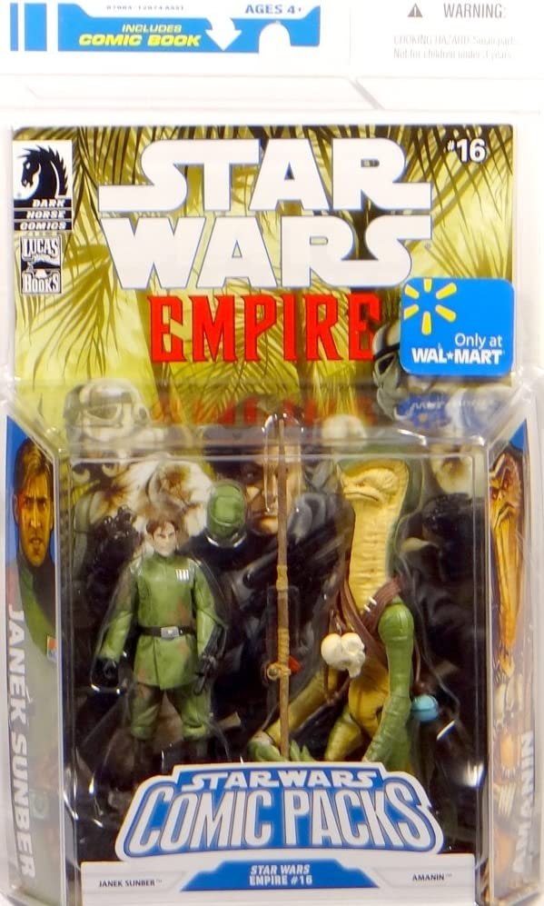 Star Wars Action Figure Comic 2-Pack Dark Horse: Star Wars Empire #16: Janek Sunber and Amanin