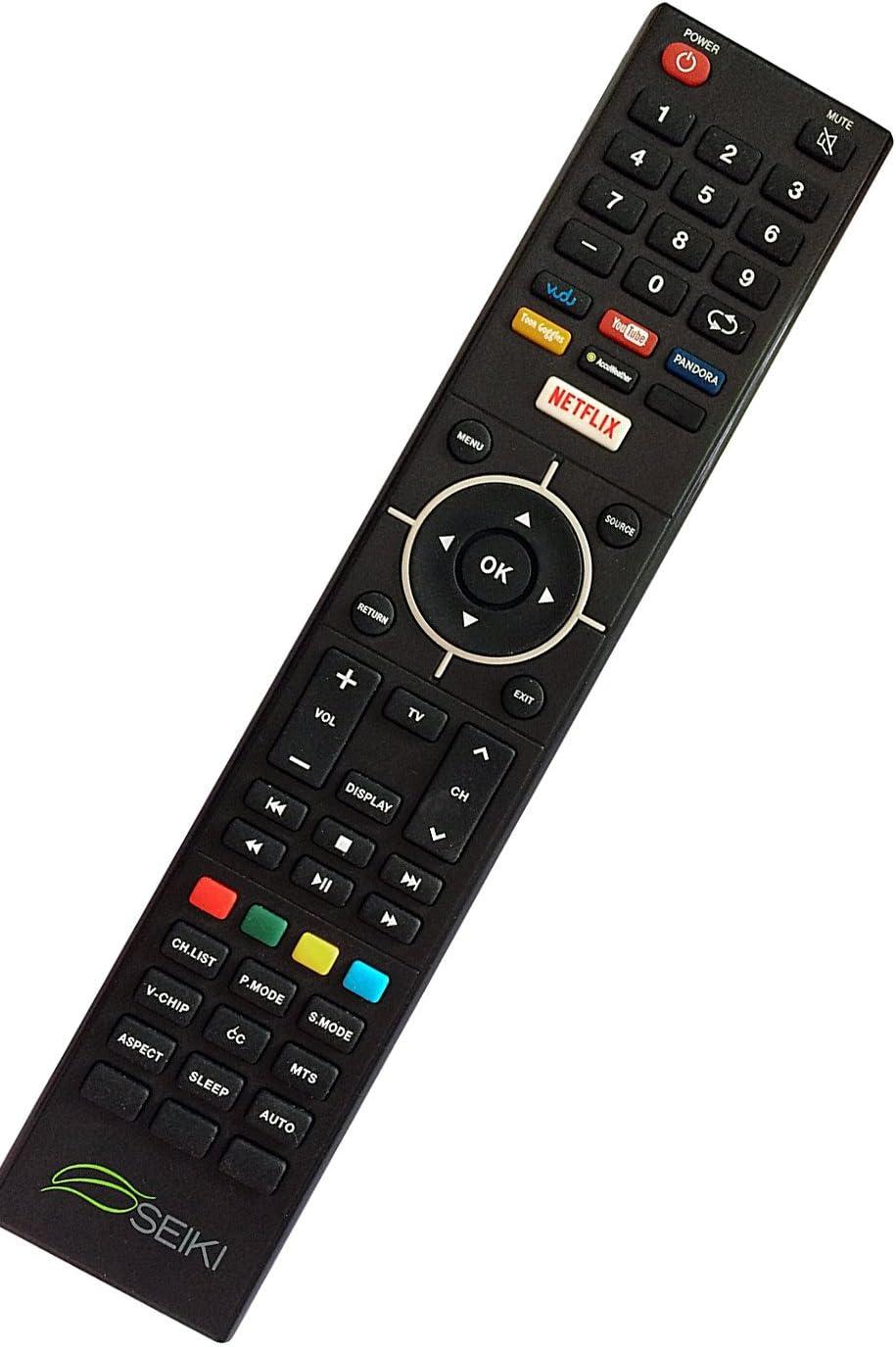 Nueva Seiki Seiki Smart TV Mando a Distancia para SEIKI se32hy19t Smart TV Remoto con Vudu Netflix Youtube Pandora Teclas: Amazon.es: Electrónica