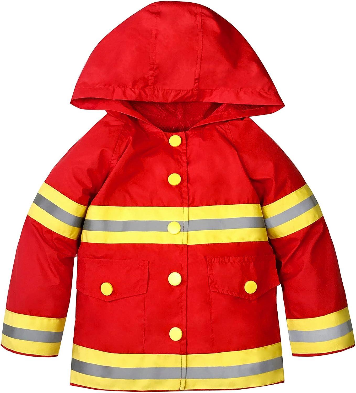 YNIQ Boys Printed Coated Raincoat for Toddler Boys
