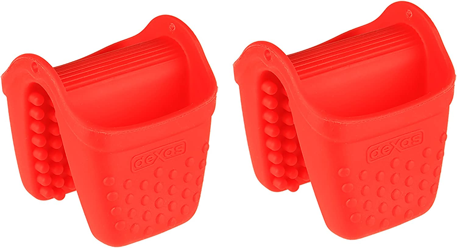 Dexas Micromitt Silicone Oven Mitt, Set of Two, Red
