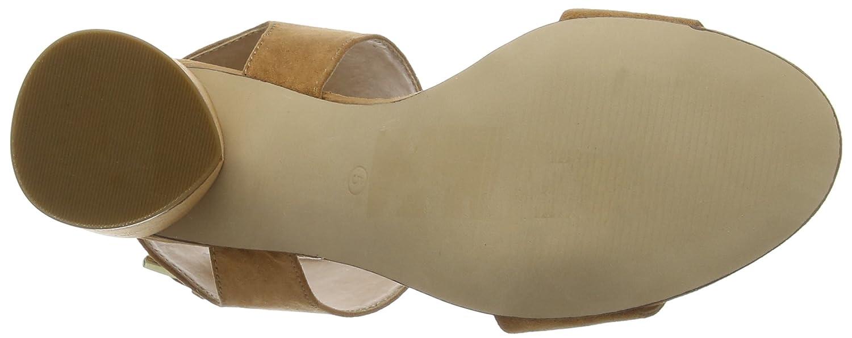 Miss Selfridge Cylinder, Sandali con Cinturino alla Donna Caviglia Donna alla  Marrone (Tan Tan) 9e2e78