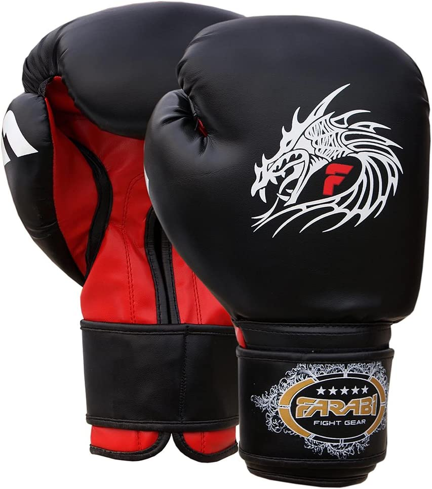 Farabi Boxing Gloves Training Sparring Punching Bag Focus Pads Training Gloves Pair 8-oz 10-oz 12-oz 14-oz 16oz