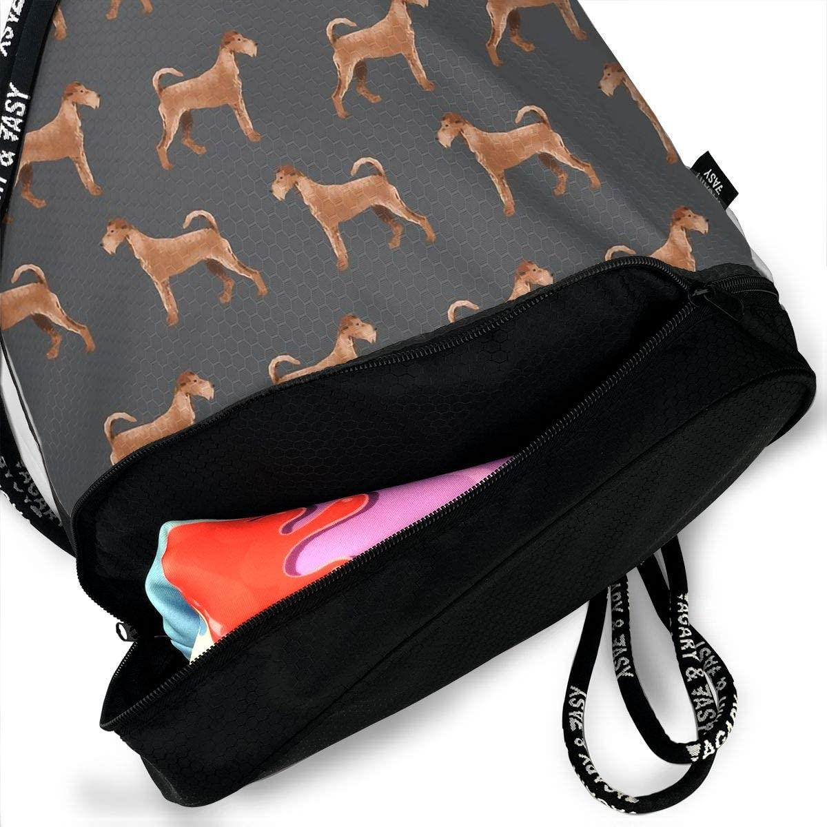 Drawstring Backpack Irish Terrier Shoulder Bags