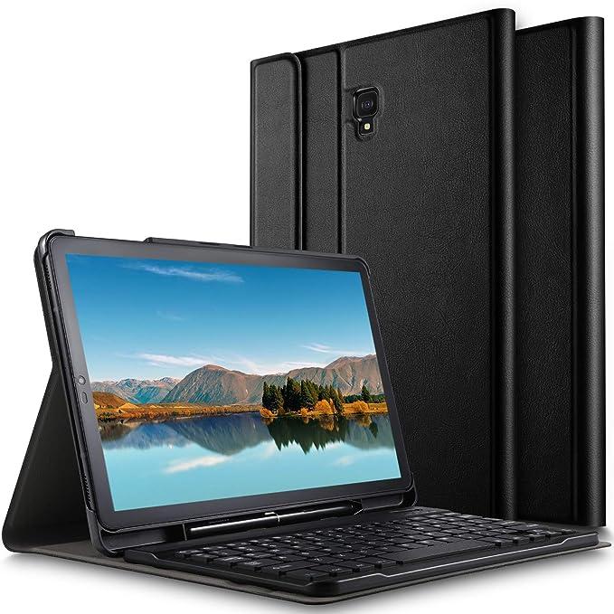 ELTD Teclado Estuche para Samsung Galaxy Tab S4 10.5 SM-T830N/T835N,[QWERTY],Slim Protectora Funda con Desmontable Wireless Teclado para Samsung Galaxy Tab ...