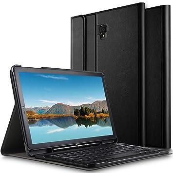 ELTD Teclado Estuche para Samsung Galaxy Tab S4 10.5 SM-T830N/T835N,[QWERTY],Slim Protectora Funda con Desmontable Wireless Teclado para Samsung ...