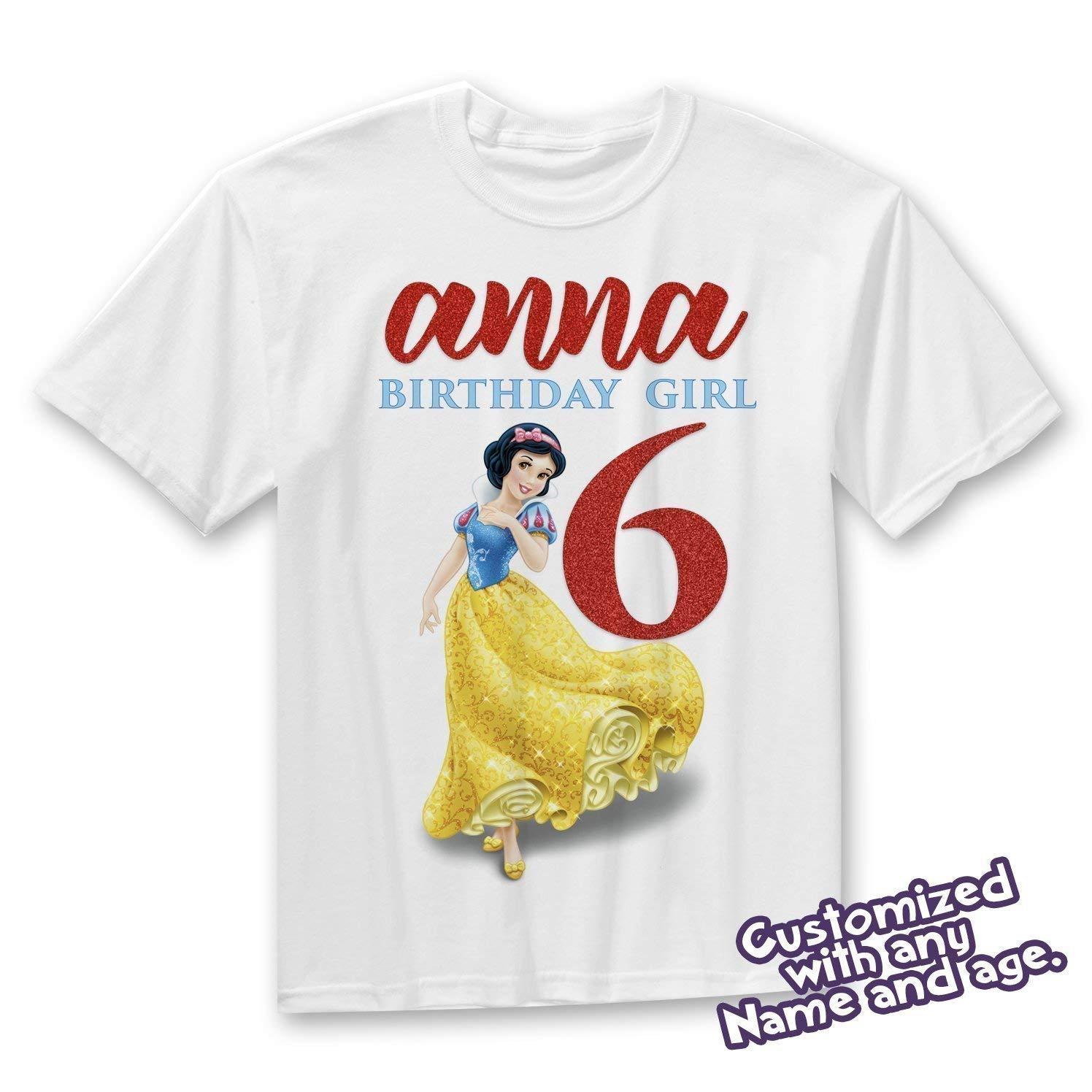 Amazon Snow White Birthday Shirt Princess Toddler Onesie Handmade
