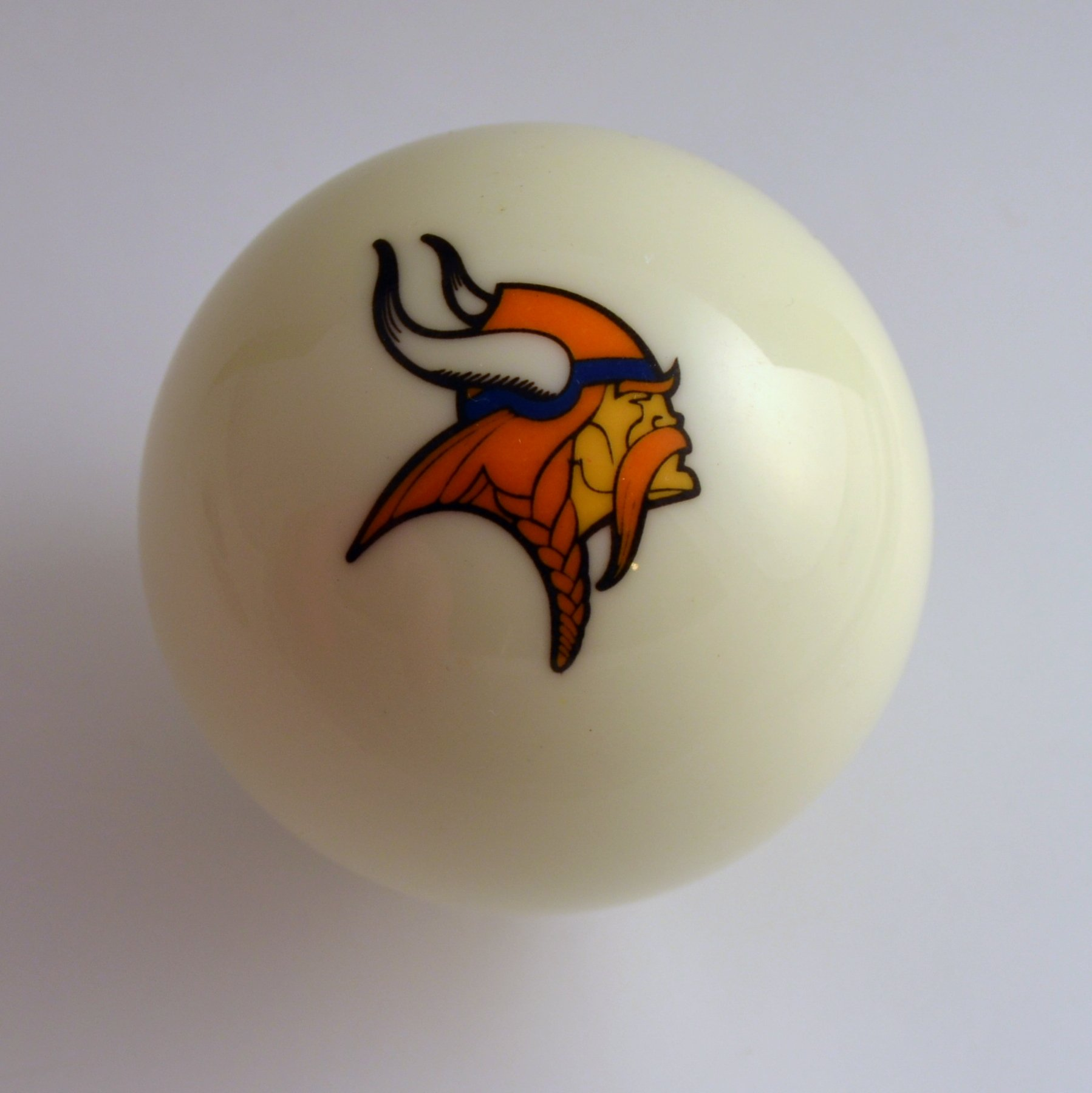 NFL Billiard Ball * All teams and colors * Great for replacement (Minnesota Vikings White)